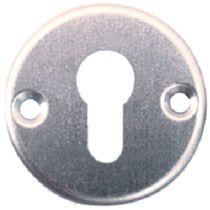 Rosace GSA aluminium anodisé Paires de rosaces, argent GSA : trou Ø 14/16, avec bague