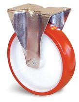 Roulette de manutention polyuréthane rouge