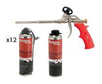 Kit 12 mousse PU isolflex + 1 nettoyant + 1 pistolet offert