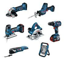 Lot 7 outils 18V 5 Ah