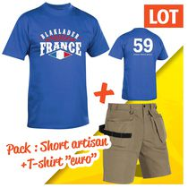 Pack short Artisan + tee-shirt Euro pack short artisan + tee-shirt offert