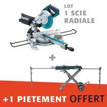 Lot scie radiale LS0815FL + pietement offert