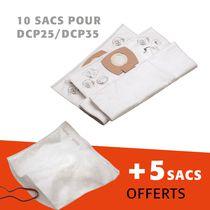 Lot 10 sacs pour dcp25/dcp35 + 5 offerts