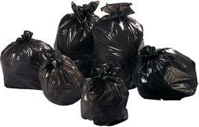Sacs poubelles, sacs à gravats