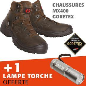 lot chaussure  mx400 goretex s3+1 lampe led offerte