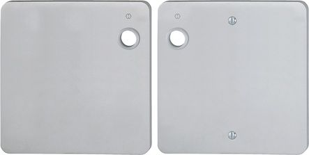 Plaque de forme aluminium carrée