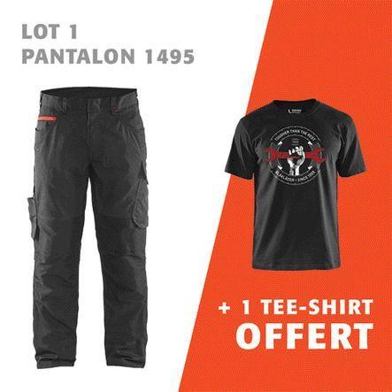 lot 1 pantalon 1495 + 1 tee-shirt offert